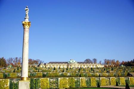 South or garden facade of the summer palace in the sanssouci royal park photo