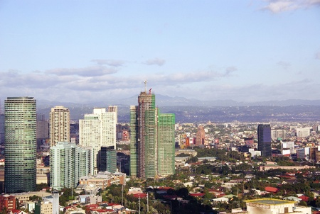 View at the business district Makati in Manila in the Philippines Stock Photo