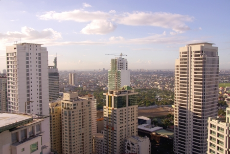 The business district Makati in Manila in the Philippines photo