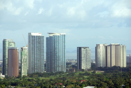 View at the business district Makati in Manila in the Philippines photo