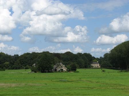 ijssel: A Dutch landscape of the river forelands of the IJssel near Zwolle