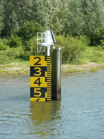 The water level of the IJssel river in summer in Zwolle in the Netherlands Stock Photo