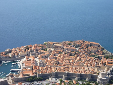 architectural heritage of the world: View at the historic city Dubrovnik at the Adriatic sea in Croatia