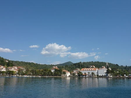 The village Sipanska Luka at the island Sipan in Croatia