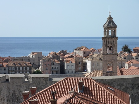 View at the historic city Dubrovnik at the Adriatic sea in Croatia Stock Photo - 12408937