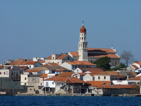 The village Betina on the island Murter in Croatia photo