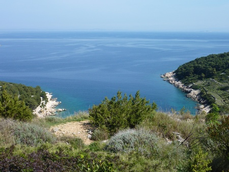 One of the bays of the island Vis in the Adriatic sea in Croatia photo