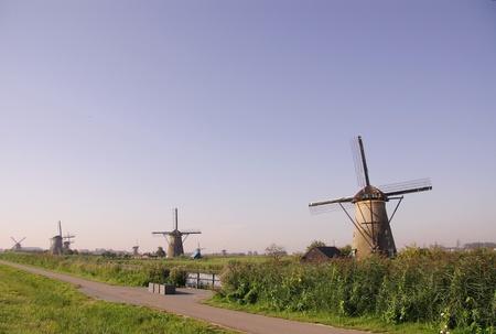 Wind mills in Kinderdijk in the Netherlands photo
