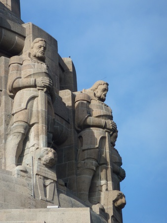 The monument to the battle of the nations in Leipzig in Germany photo