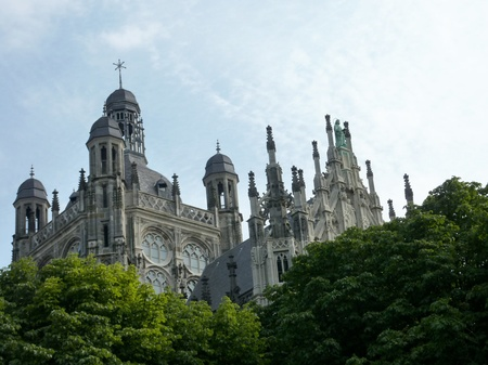 noord brabant: The Sint Jan cathedral in s-Hertogenbosch in the Netherlands Stock Photo