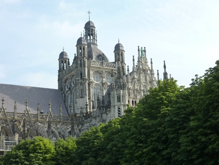 noord brabant: The st John cathedral in Den Bosch in the Netherlands
