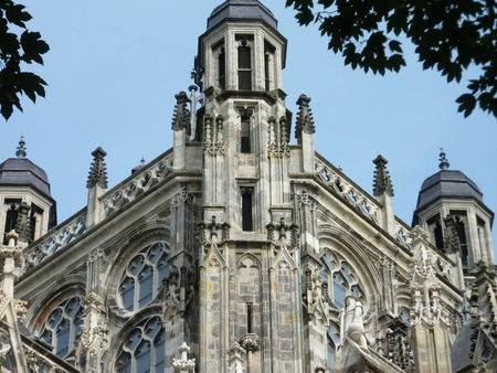 noord brabant: A detail of the Saint John cathedral in s-Hertogenbosch