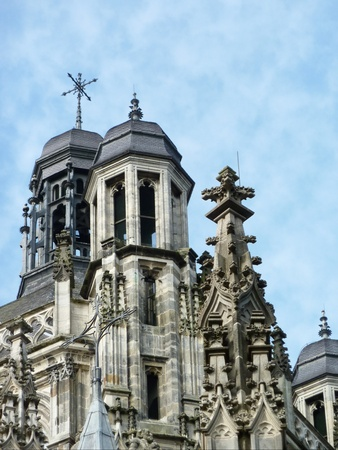 noord brabant: A detail of the st Jan cathedral in s-Hertogenbosch in the Netherlands