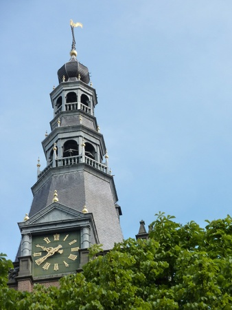 noord brabant: The tower of the st Jan cathedral in Den Bosch Stock Photo