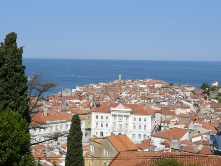 The city Piran in Slovenia photo
