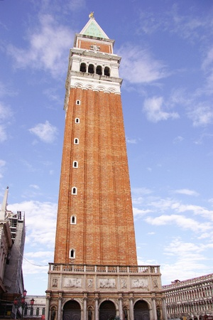 The San Marco campanile in Venice in Italy photo