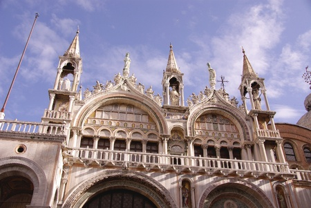 friezes: The San Marco basilica in Venice in Italy