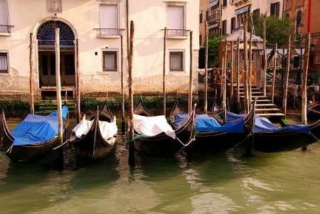 Gondolas in Venive in Italy Stock Photo - 12408856