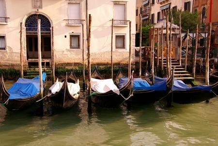 Gondolas in Venive in Italy Stock Photo - 12408856
