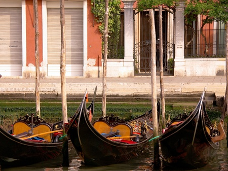 Gondolas in Venive in Italy Stock Photo - 12408860