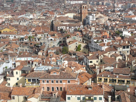 Panoramic view at Venice in Italy photo