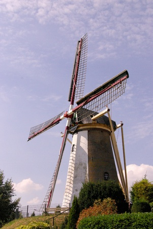 A historic windmill in the Netherlands