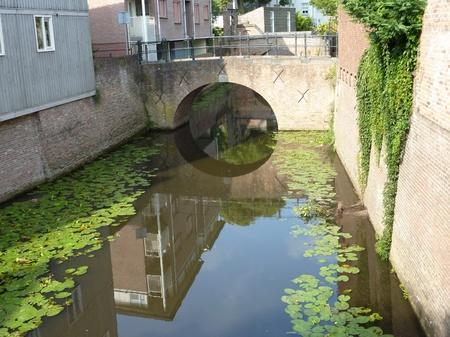 noord brabant: The river Binnendieze in Den Bosch in the Netherlands