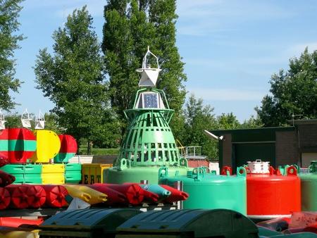 buoys: Colorful navigation buoys