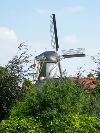 The wind mill of Oude Tonge in the Netherlands Stock Photo