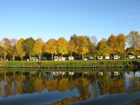 The campground of Maastricht in the Netherlands
