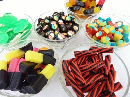 candy shop: An assortment of liquorice candies Stock Photo