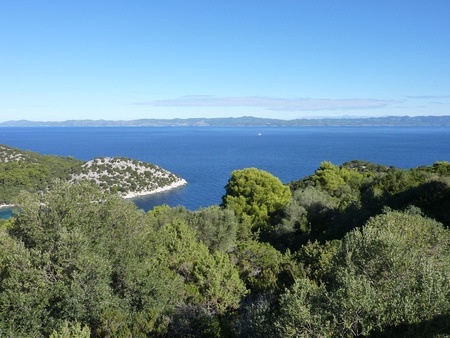 The island Lastovo in Croatia with a view at the Adriatic sea photo
