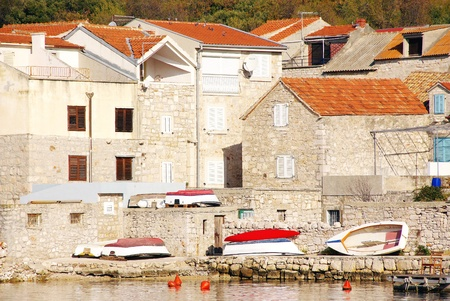The houses in the village Prviv in Croatia Stock Photo - 12635799