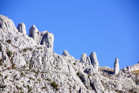 mountaintops: The velebit mountains in Croatia