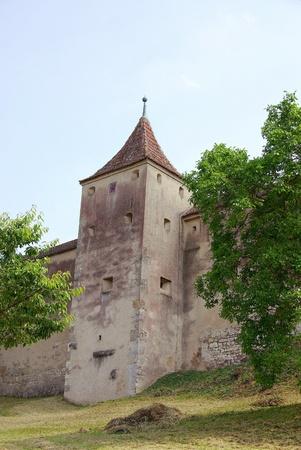 schloss: Harburg castle in Bavaria in Germany Stock Photo