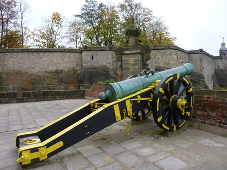 Guns at the Koenigstein castle in Germany photo