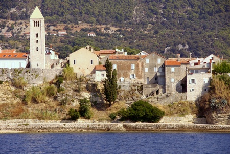 View at Rab town on the island Rab in Croatia photo
