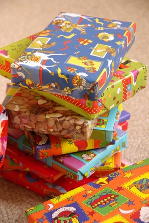 Gifts from Sinterklaas a typical dutch celebration Stock Photo