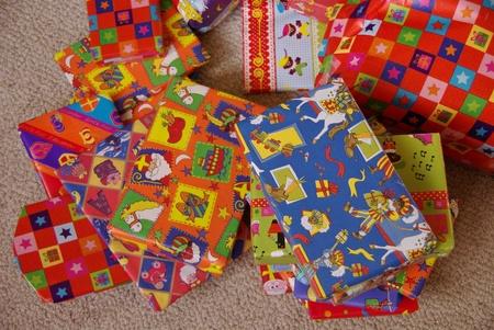 Presents from Sinterklaas a typical dutch celebration Stock Photo - 12957702
