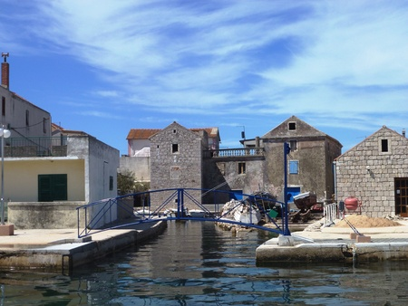 The Croatian village Betina at the island Murter in the Adriatic sea in Croatia Stock Photo - 13269852