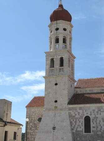 The church of the village Betine on the island Murter in Croatia photo