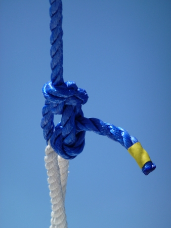 fixed line: A bowline is a maritime knot