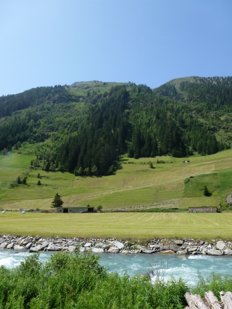 Rapids in the river along the Silvretta high road photo