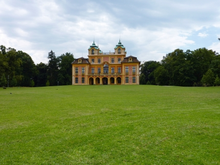 the royal county: The favorite summer palace in a spacious parkland  in Ludwigsburg in the Black Forest in Germany