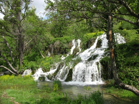 The roski slap waterfalls in the Krka national park in Croatia photo