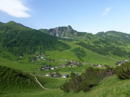 The mountains above the village Malbun in Liechtenstein