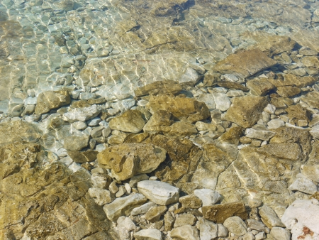 lopsided: The clear water of the Adriatic sea in Croatia