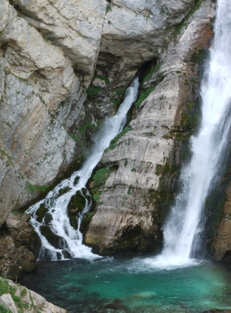 bohinj: The Savica waterfalls near Bohinj in Slovenia