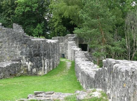 burg: The ruin of the Obere burg at the Schellenberg in Liechtenstein Stock Photo