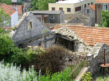 A ruin in Lastovo town on the island Lastovo in Croatia photo
